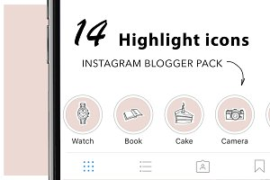 14 Instagram Stories Highlight Icons