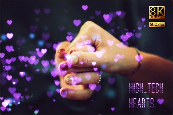 8K High-Tech Hearts Overlays