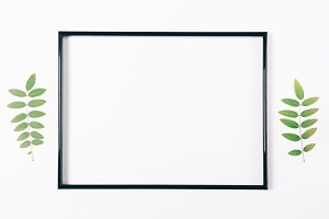 Black frame on a white background