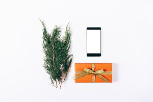Mobile phone, gift box