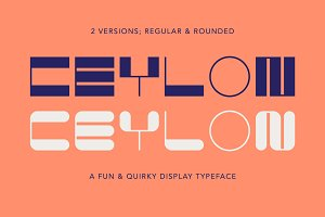 Ceylon - A Quirky Display Font Duo