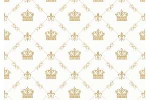 Wallpaper Damask Background.