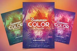 Summer - PSD Flyer & Invitation