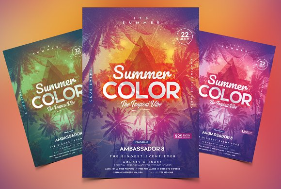 Summer PSD Flyer Invitation