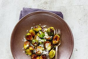 Brussels sprouts with parmesan