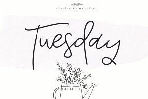 Tuesday - Handwritten Script Font