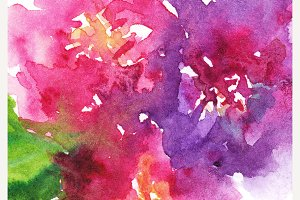 Watercolor flower floral background