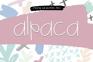Alpaca - A Quirky Handwritten Font