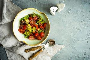 Organic summer salad