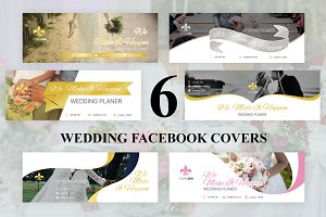 6 Wedding Facebook Covers
