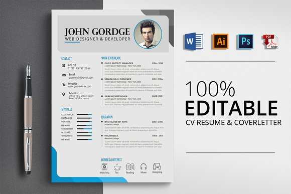 Creative Word Resume CV