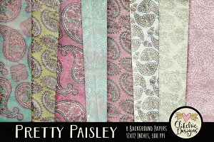 Pretty Paisley Patterned Backgrounds