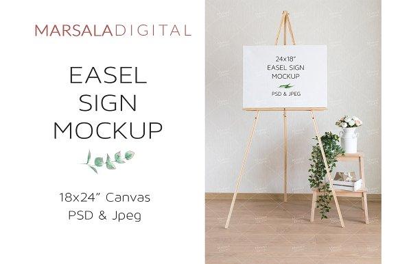 Wedding Easel Sign Canvas Mockup