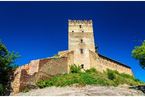 View of Lubart Castle in Lutsk - Ukraine
