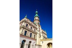 Ratusz or Town Hall on Rynek Wielki Square in Zamosc, Poland