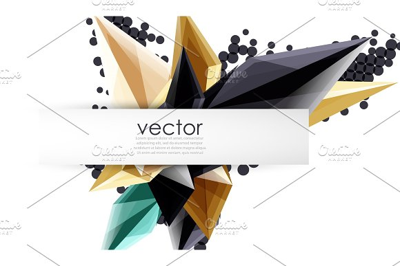 Colorful Blooming Crystals Vector Abstract Background