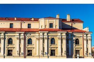 Facade details of a building in Zamosc - Poland