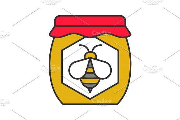 Honey Jar Color Icon