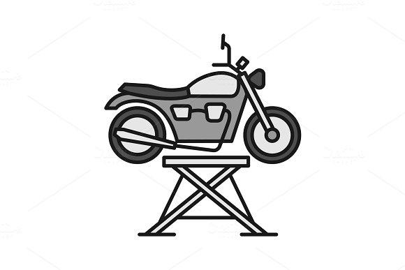 Motorbike Jack Color Icon