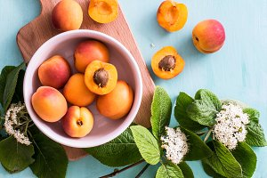 Apricots and elder flowers