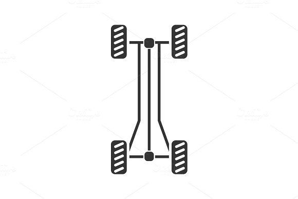 Car Chassis Frame Glyph Icon
