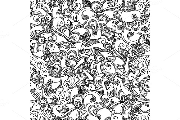Seamless Wave Hand Drawn Pattern