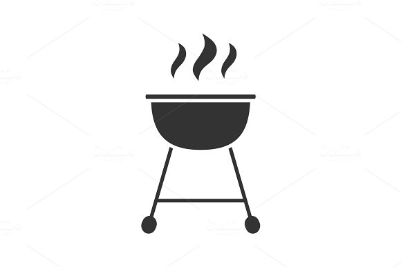 Kettle Barbecue Grill Glyph Icon
