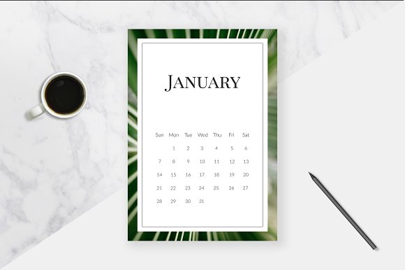 2018 Tropical Calendar