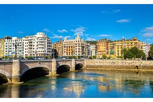Cityscape of San Sebastian or Donostia - Spain