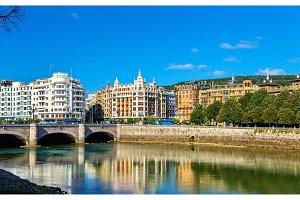 Cityscape of San Sebastian or Donostia - Spain
