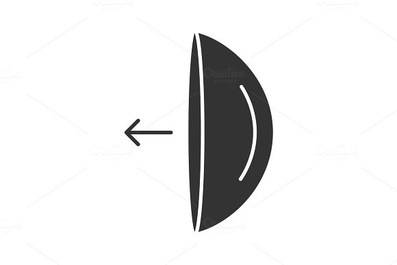 Eye Contact Lenses Putting On Instruction Glyph Icon