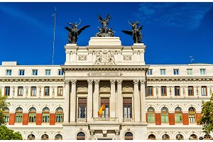 The Palacio de Fomento, Ministry of Agriculture in Madrid - Spain
