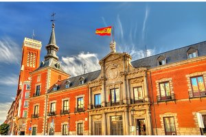 Santa Cruz Palace, the seat of Foreign Affairs Ministry in Madrid, Spain