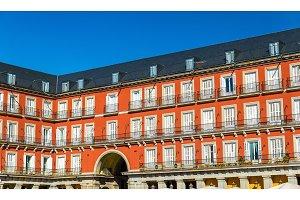 Buildings on the Plaza Mayor of Madrid, Spain