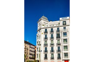 Typical building in the centre of Madrid, Spain