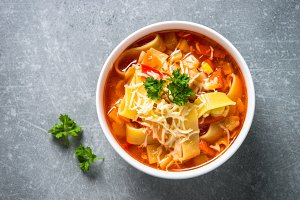 Minestrone traditional italian soup