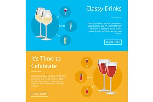 Classy Drinks and it`s Time to Celebrate Poster