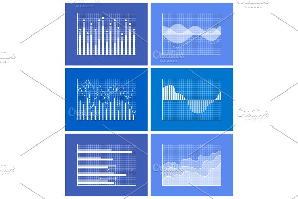 Diagrams Collection Poster Vector Illustration