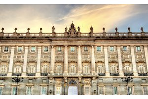 The Royal Palace of Madrid in Spain
