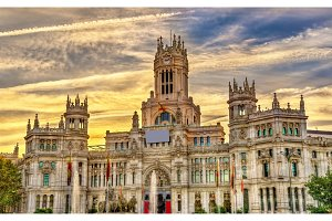 The Cybele Palace in Madrid, Spain