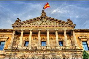 Biblioteca Nacional de Espana, the largest public library in Spain - Madrid