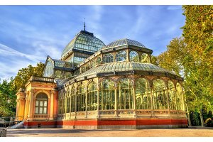 Palacio de Cristal in Buen Retiro Park - Madrid, Spain
