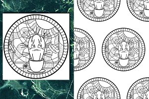 Cactus Coloring Set
