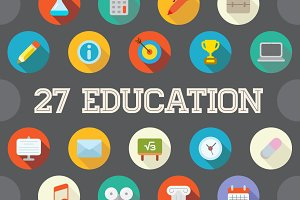 Awesome 27 Education Flat Vector