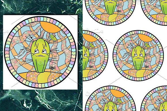 Cactus Print Seamless Pattern