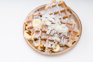 Sugar waffles product photo