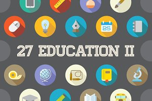 Awesome 27 Education II Flat Vector