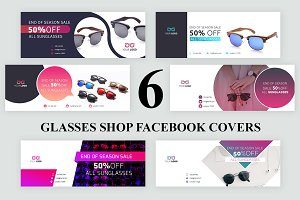 6 Glasses Shop Facebook Covers