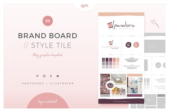 Brand Board Style Tile 30
