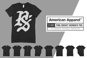 American Apparel 2102 Women's Tee